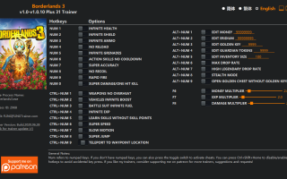 Borderlands 3 — Трейнер / Trainer (+31) v1.0-v1.0.7
