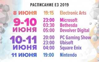 Расписание конференций E3 2018