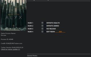 Half-Life: Alyx — Трейнер / Trainer (+4) v1.0-v20200328